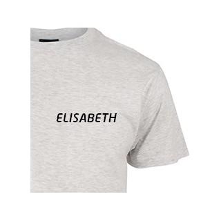 T-skjorte med navn på bryst.