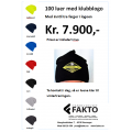 100 luer med klubbmerke/logo